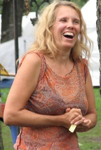 Cherie Sampson at morning meeting photo:  jtouchette