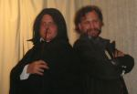 Jonathan Wegmeyer as Severus Snape, both costumes by The DreamStitcher, Patrick Fisher as Sirius Black, photo from Tonya Johnson