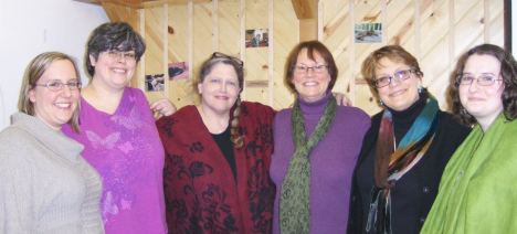 Newly elected SPC board members Nikki, Lola, Carol, Mary, Heather, and Emily.  Not pictured, Teisha Magee