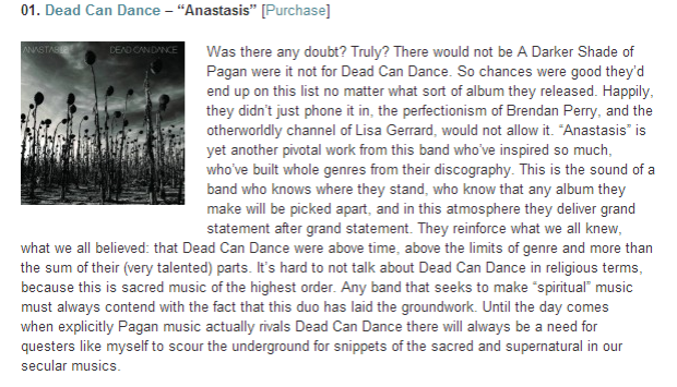Music A Darker Shade of Pagan  Top Ten of 2012   The Wild Hunt
