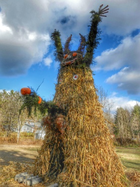 This year's Corn King had a Where the Wild Things Are look