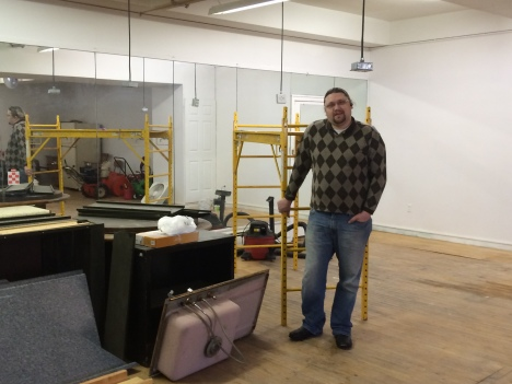 Keys of Paradise owner Cameron Celegske during the remodel of his new location