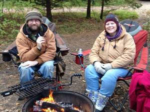 With Husband Patt at Jay Cooke State Park
